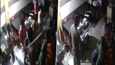Tamil Nadu Cop Thrashes People Eating at Hotel in Coimbatore in The Name of COVID-19 Restrictions; Video Goes Viral