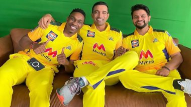 Suresh Raina Poses with Robin Uthappa, Dwayne Bravo as 'Three Musketeers' of CSK Gear Up for IPL 2021
