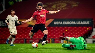 Manchester United 6–2 Roma, UEFA Europa League 2020–21 Semi-Final Result: Bruno Fernandes, Edinson Cavani Score Two Goals Each