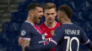 Neymar Jr Annoys Joshua Kimmich With his Celebrations After PSG Advances to Semi-Finals of UCL 2021, Brazilian Says 'I Didn't Even Celebrate to Mess With Him' (Watch Video)