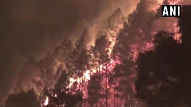 Uttarakhand Wildfire: Operation Underway To Douse Forest Fire in New Tehri District