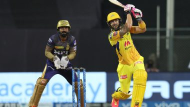 KKR vs CSK IPL 2021 Stat Highlights: Faf Du Plessis, Deepak Chahar Shine As Chennai Super Kings Beat Kolkata Knight Riders by 18 Runs in Thriller