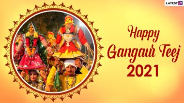 Happy Gangaur Teej 2021 Wishes And Greetings: WhatsApp Messages, Quotes, HD Images And Wallpapers to Share on The Occasion of Gauri Puja