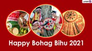 Bohag Bihu 2021 HD Images, Wallpapers & Wishes: Send WhatsApp Stickers, Happy Rongali Bihu Messages, Telegram Greetings & Signal Photos to Celebrate Assamese New Year