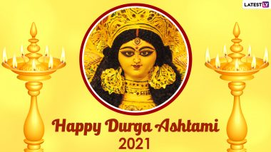 Happy Durga Ashtami 2021! Netizens Share Wishes, Greetings, WhatsApp Stickers, Telegram Photos, Maa Durga HD Images & Messages During Chaitra Navratri