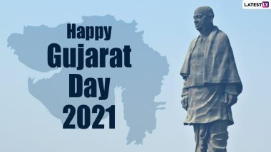 Happy Gujarat Day 2021 Images, HD Wallpapers & Greetings: Send Gujarat Sthapana Din Wishes in Gujarati, WhatsApp Stickers, Telegram Photos, Quotes, and Messages on May 1