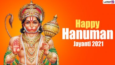 Happy Hanuman Jayanti 2021 Images & HD Wallpapers for Free Download Online: GIFs, Photos, Posters And WhatsApp Stickers of Bajrang Bali to Share on The Festival Day