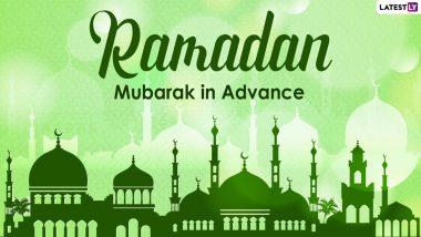 Ramzan Mubarak 2021 Wishes in Advance: Happy Ramadan HD Images, WhatsApp Stickers, Facebook Messages, Ramadan Kareem Telegram Pics & GIFs to Start the Holy Month
