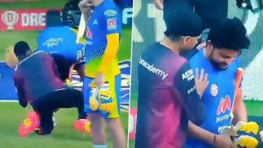 IPL 2021: Suresh Raina Touches Harbhajan Singh's Feet Ahead of CSK vs KKR Clash (Watch Video)