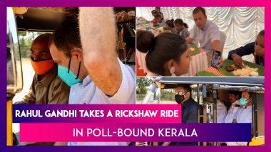 Rahul Gandhi Takes A Rickshaw Ride In Poll-Bound Kerala, Enjoys Easter Lunch With Orphans; Kids Talk To Priyanka Gandhi Vadra On Video Call