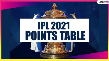 IPL 2021 Points Table Updated: RCB Jump to Top of Team Standings After Concecutive Wins, SRH Remain Winless