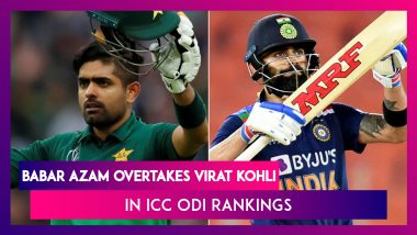 ICC Men's ODI Latest Players Rankings: Babar Azam Ends Virat Kohli's Reign At Top