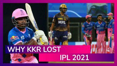 Rajasthan vs Kolkata IPL 2021: 3 Reasons Why Kolkata Lost