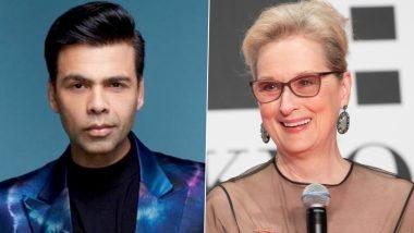 Karan Johar Wants To Go On A Dinner Date With Oscar-Winner Actress Meryl Streep