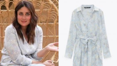 Kareena Kapoor Khan Looks Elegant on Star Vs Food As She Stuns in an Icy Blue Shirt Dress Worth Rs 4500!