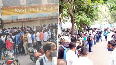 Remdesivir Demand Grows Amid Rising COVID-19 Cases, Huge Queues Seen Across India As People Seek to Buy The Injection (Watch Videos & Pictures)