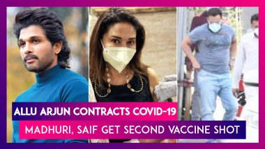 Allu Arjun Contracts Covid-19; Madhuri Dixit, Saif Ali Khan Get Second Coronavirus Vaccine Shot