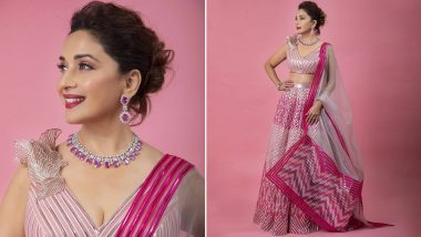 Madhuri Dixit In This Pink Lehanga Choli Is A Treat For Sore Eyes (View Pics)
