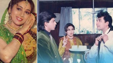 Anjaam Clocks 27 Years: Madhuri Dixit Shares Throwback Pictures From the Film With Shah Rukh Khan and Deepak Tijori