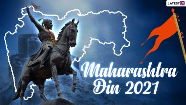 Happy Maharashtra Day 2021 Images & HD Wallpapers for Free Download Online: Wish Maharashtra Din Shubhechha With New WhatsApp Stickers, GIF Greetings, Quotes and Messages