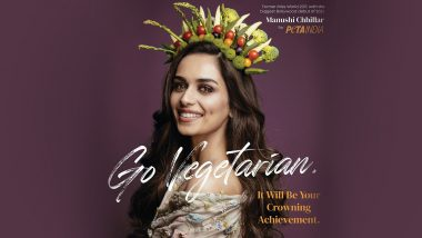 Earth Day 2021: Manushi Chhillar Features in a New Campaign PETA India, Encourages Everyone To Ditch Meat on the Occasion