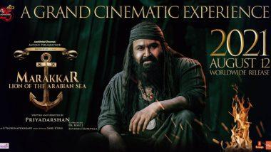 Mohanlal's Marakkar Arabikadalinte Simham Will Release On August 12, To Clash With Allu Arjun's Pushpa
