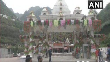Chaitra Navratri 2021: Devotees Offer Prayers at Mata Vaishno Devi Shrine in Jammu and Kashmir's Katra on 1st Day of Navratri