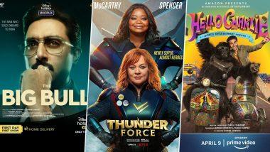 OTT Releases of the Week: Abhishek Bachchan's The Big Bull on Disney+ Hotstar, Aadar Jain's Hello Charlie on Amazon Prime Video, Octavia Spencer's Thunder Force on Netflix and More