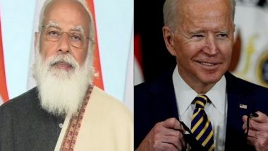 PM Narendra Modi and US President Joe Biden Discuss COVID-19 Situation in Both Countries Over a Phone Call