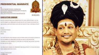 Nithyananda's Kailasa Bans Entry for Indian Travellers Amid Surge in COVID-19 Cases