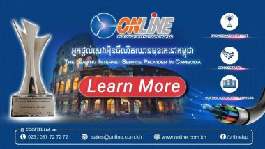 ONLINE ISP Cambodia (COGETEL Ltd) the Best Internet Service Providers (ISPs) in Cambodia