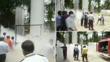 Maharashtra: Oxygen Tanker Leaks at Dr Zakir Hussain Hospital in Nashik (Watch Video)