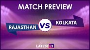 RR vs KKR Preview: Likely Playing XIs, Key Battles, Head to Head and Other Things You Need To Know About VIVO IPL 2021 Match 18