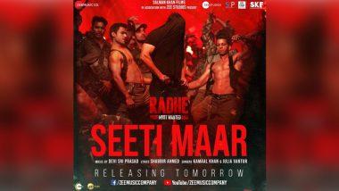 Radhe Song Seeti Maar Poster: Salman Khan Is All Set To Burn the Dance Floor!