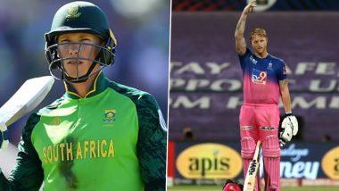 IPL 2021: Rassie van der Dussen Likely to Join Rajasthan Royals as Ben Stokes' Replacements