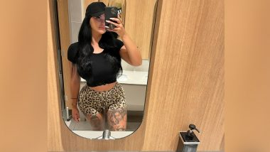 Ex-OnlyFans Queen Renee Gracie Looks Smokin' Hot in Animal Print Booty Shorts and Crop Top! HOT Pic Goes Viral