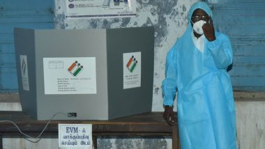 Tamil Nadu Assembly Elections 2021: Gunasekaran, COVID-19 Positive CPI Candidate From Sivaganga, Casts Vote Wearing PPE Kit, See Pics