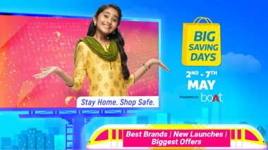Flipkart Big Saving Days Sale 2021 To Begin on May 2, 2021; Check Discounts on Smartphones, Smart TVs & Others
