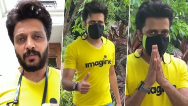 Riteish Deshmukh Urges Fans To Wear Masks Amid Second Wave of COVID-19 (Watch Video)