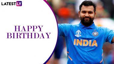 Rohit Sharma Birthday Wishes: Suresh Raina, Yuzvendra Chahal, Mumbai Indians and Others Greet the Hitman As He Turns 34