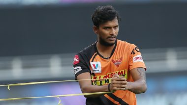 T Natarajan Tests Positive For COVID-19 Ahead of IPL 2021 Match Against Delhi Capitals, Six Others From Sunrisers Hyderabad Have Been Isolated