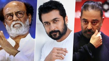 Tamil Nadu Elections 2021: Rajinikanth, Kamal Haasan, Suriya and Others Come Down to the Polling Booth to Cast Their Vote