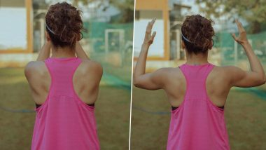 Shabaash Mithu: Taapsee Pannu Trains for Mithali Raj Biopic in Open Ground as Gyms Get Shut In COVID-19 Lockdown, Says 'No Excuses'