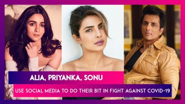 Alia Bhatt, Priyanka Chopra, Sonu Sood, Shahid Kapoor Use Social Media To Do Their Bit In The Fight Against Covid-19