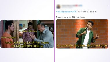 CBSE Class 10 Board Exams Cancelled While Class 12 Exams Postponed! Funny Memes and Jokes Take over Twitter in Celebration