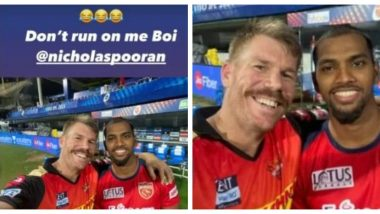 David Warner Hilariously Trolls Nicholas Pooran After Running Him Out on a Duck During PBKS vs SRH In IPL 2021