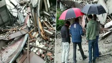 Himachal Pradesh: Vacant Building Collapses in Sanjauli Area of Shimla After Incessant Rainfall