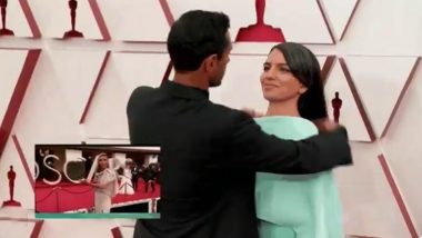 Oscars 2021: Riz Ahmed Wins Hearts for Fixing Wife's Hair at the Red Carpet! Video Goes Viral
