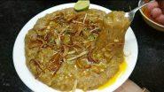 Ramadan 2021 Iftar Recipe: Make Delicious Haleem at Home During Ramzan (Watch Video)