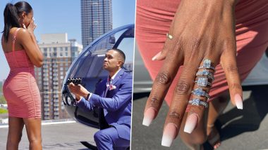 Atlanta Man's Over-the-Top Proposal to Fiancé With Five Diamond Rings Goes Viral, See Pics & Video